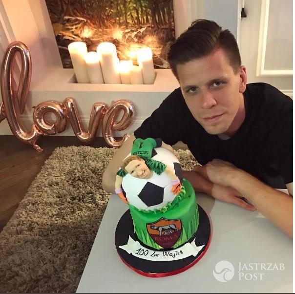 Wojciech Szczęsny chwali się urodzinowym tortem