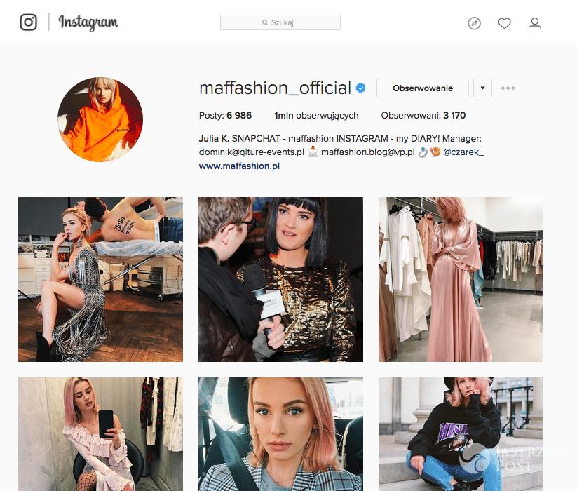 Ile fanów na Instagramie ma Maffashion?