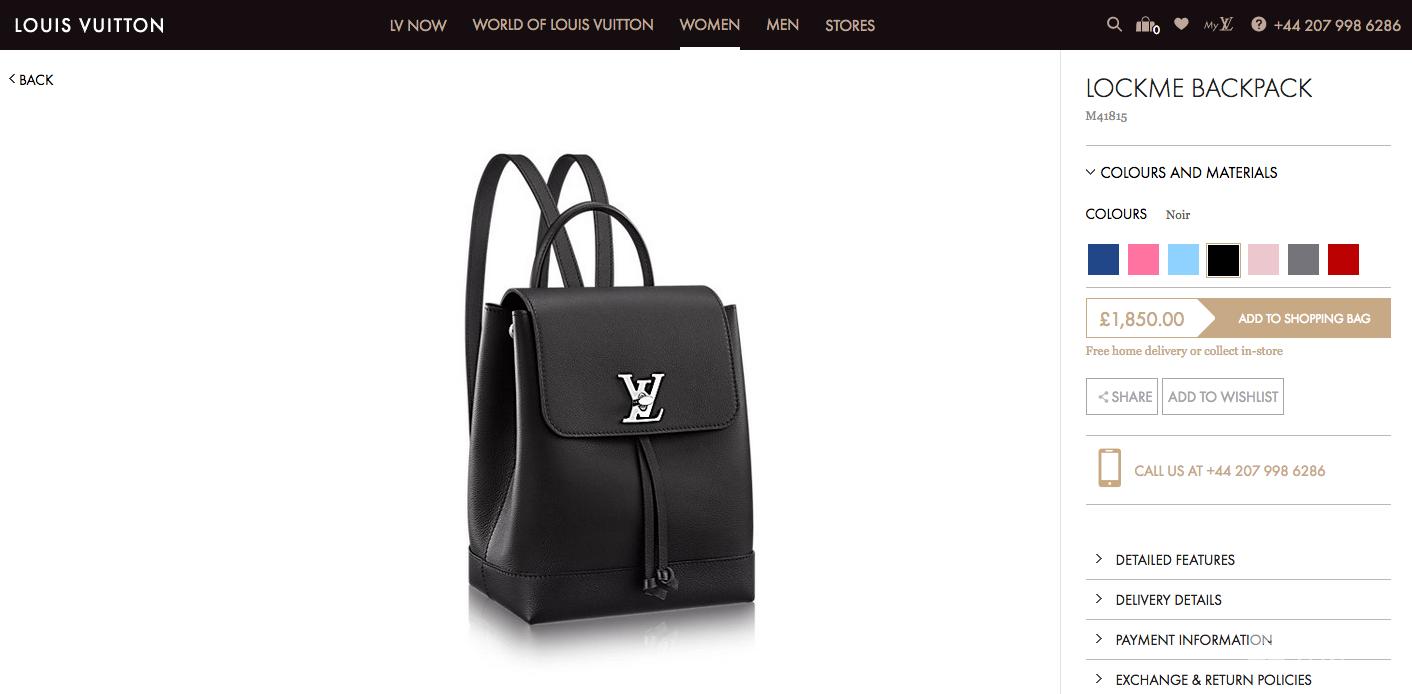 Plecak Louis Vuitton, cena: 9 200 złotych