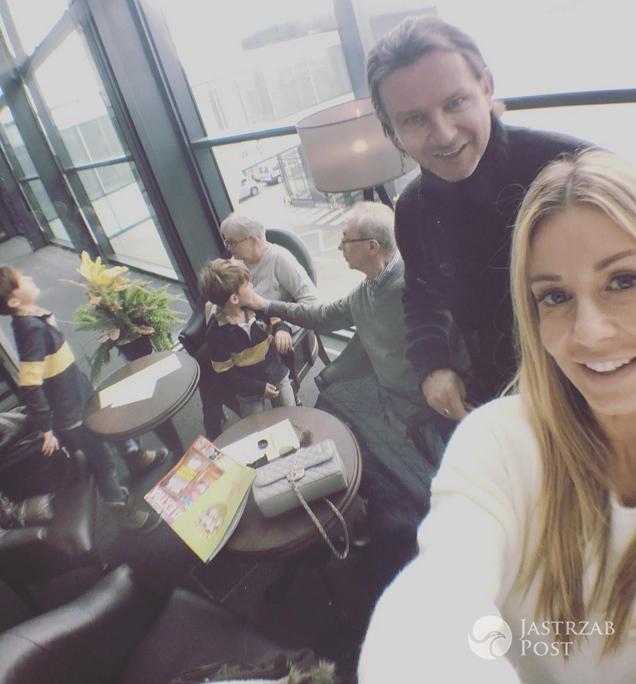 Małgorzata Rozenek z rodziną przed wylotem do Norwegii