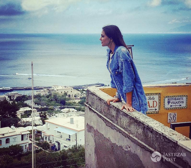 Anna Wendzikowska na Capri