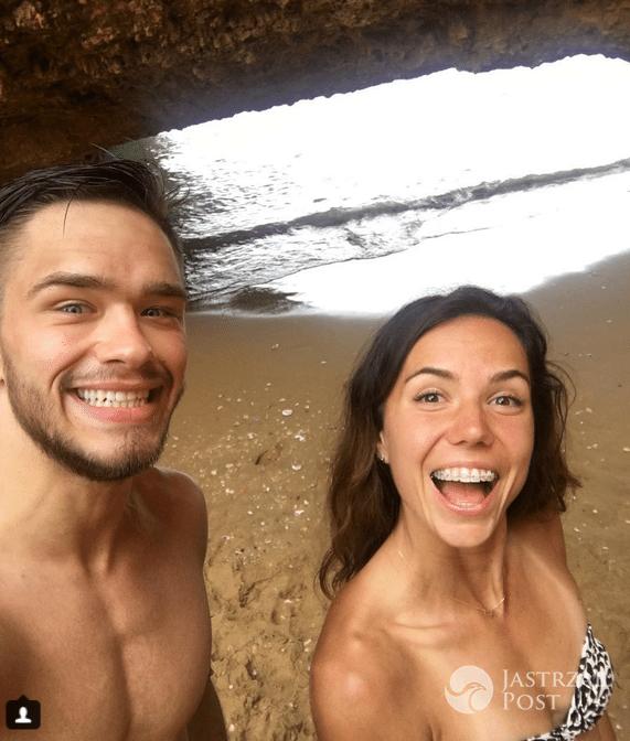 Adam Niedźwiedź z dziewczyną - Wielkanoc 2017 (Instagram)
