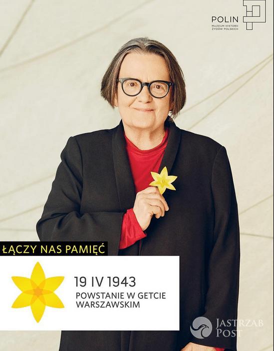 Agnieszka Holland - Akcja Żonkile - 74 rocznica powstania w getcie warszawskim