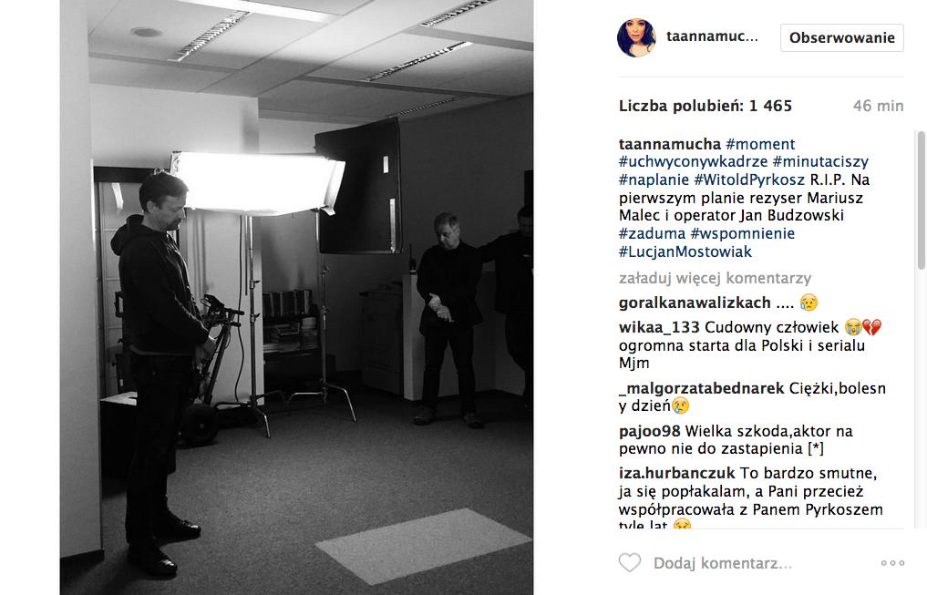 Anna Mucha o śmierci Witolda Pyrkosza, wspomnienie