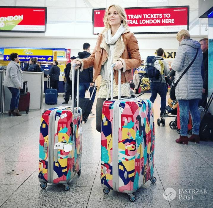 Kasia Moś na lotnisku przed Eurowizją 2017
