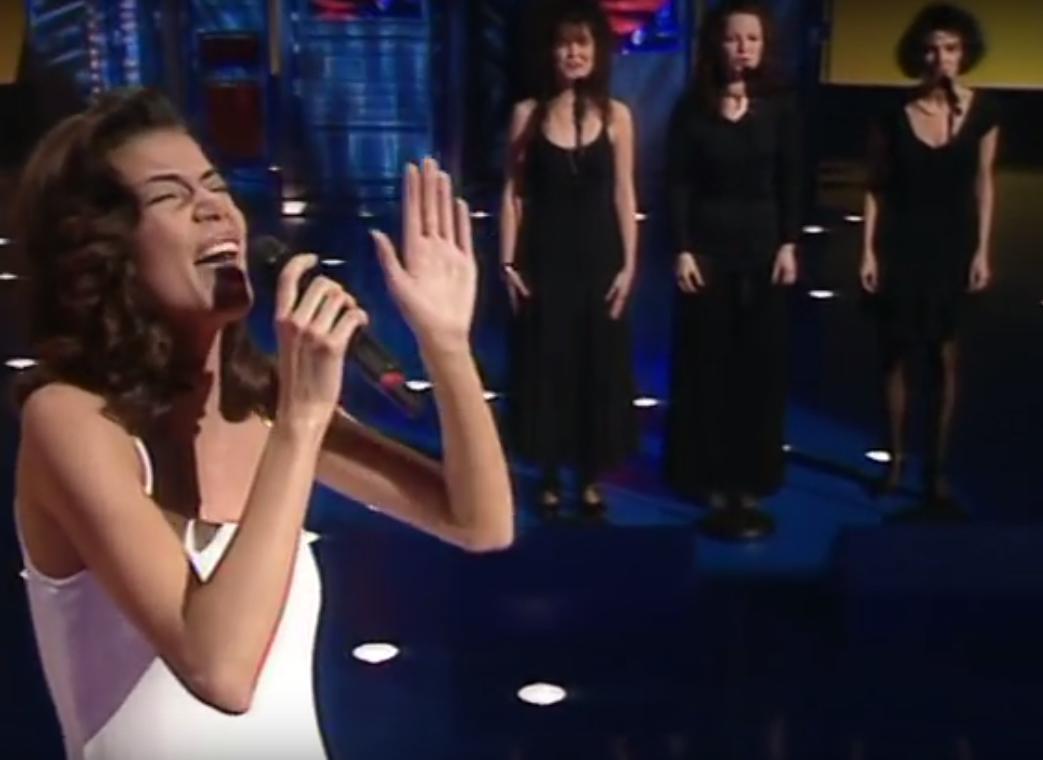 Edyta Górniak w Dublinie na Eurowizji 1994