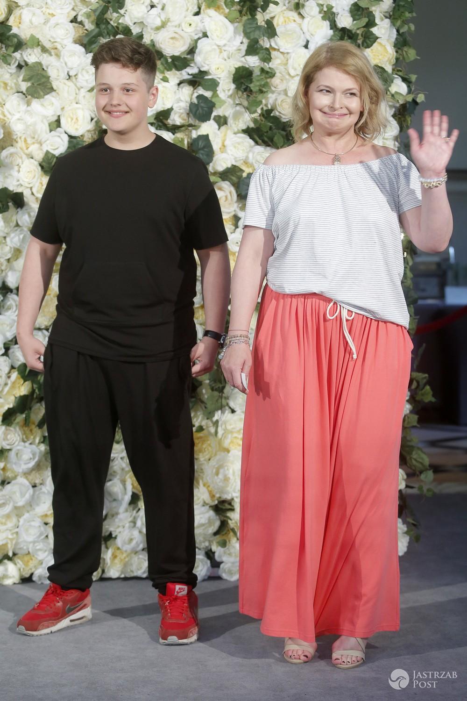 Dominika Ostałowska z synem Hubertem na diecie