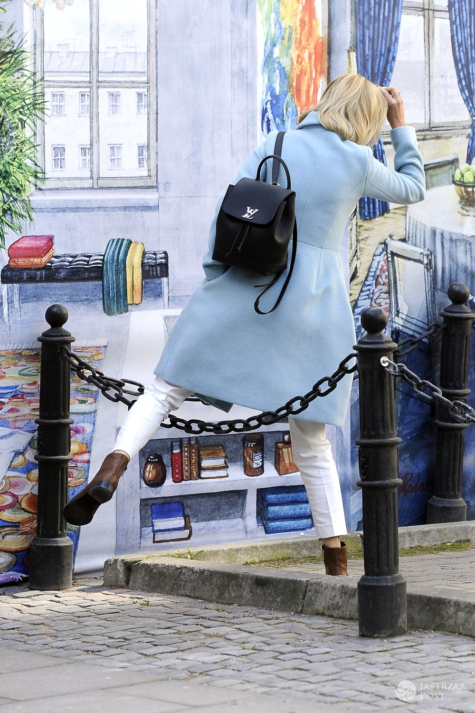 Edyta Pazura z plecakiem Louis Vuitton za 10 tysięcy