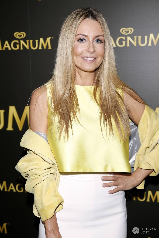 Małgorzata Rozenek stylizacja - złota bluzka