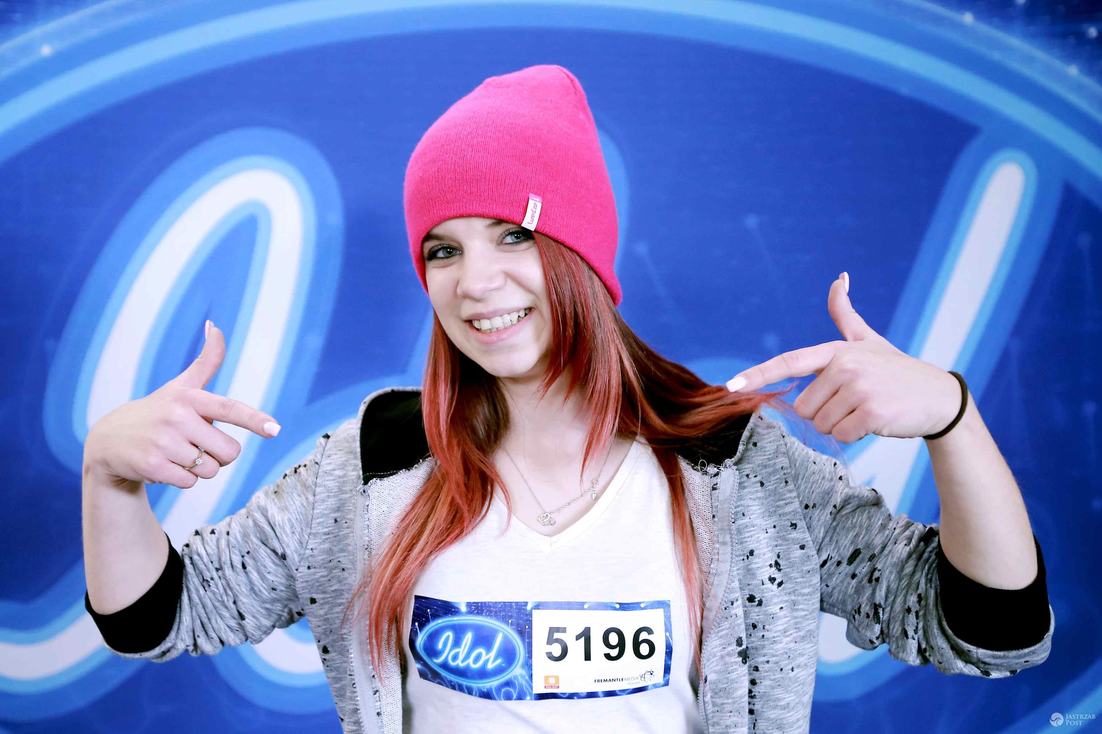 Angelika Zaworka na castingach do Idola