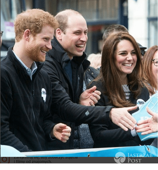 William Harry Kate dopingują biegaczy