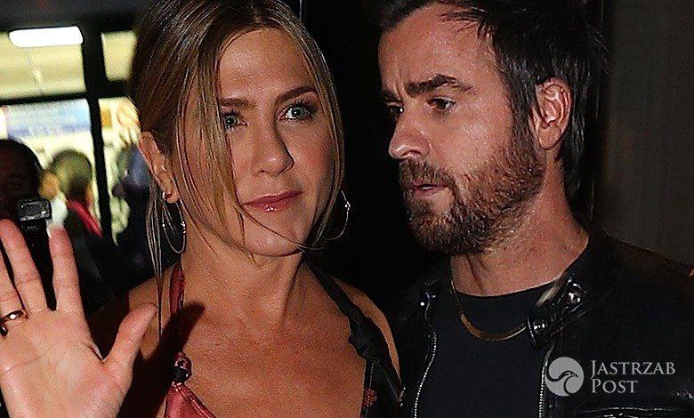 Szczupła Jennifer Aniston i Justin Theroux na kolacji