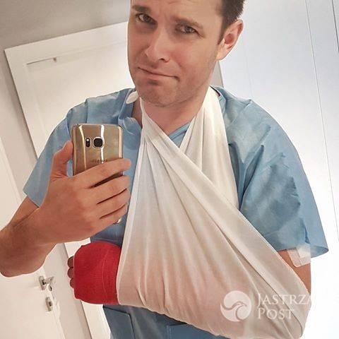 Marek Kaliszuk złamał rękę
