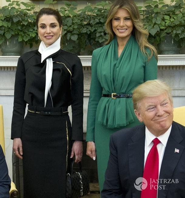 Melania Trump w zielonej sukni