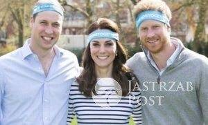 Kate Middleton, książę William i książę Harry