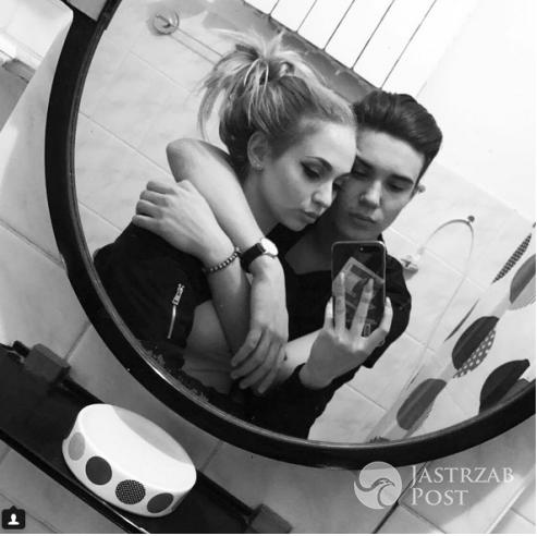 Leon Myszkowski z dziewczyną na Instagramie