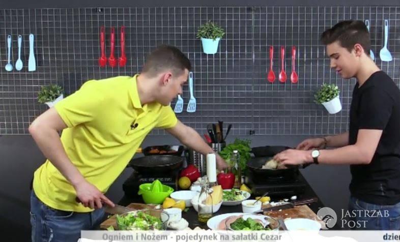 Adam Zdrójkowski i Leon Myszkowski gotują w Dzień Dobry TVN