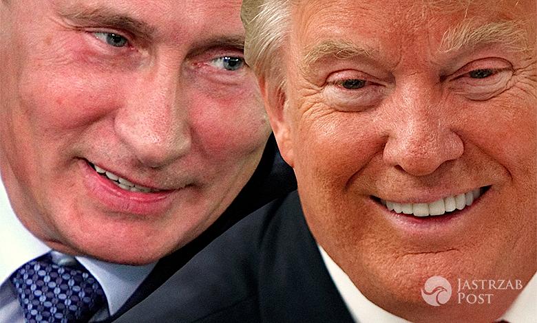 Donald Trump i Władimir Putin hotel