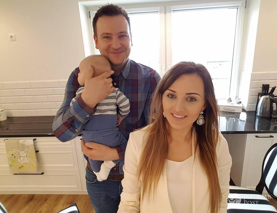 Anna i Grzegorz Bardowscy z synem Jasiem