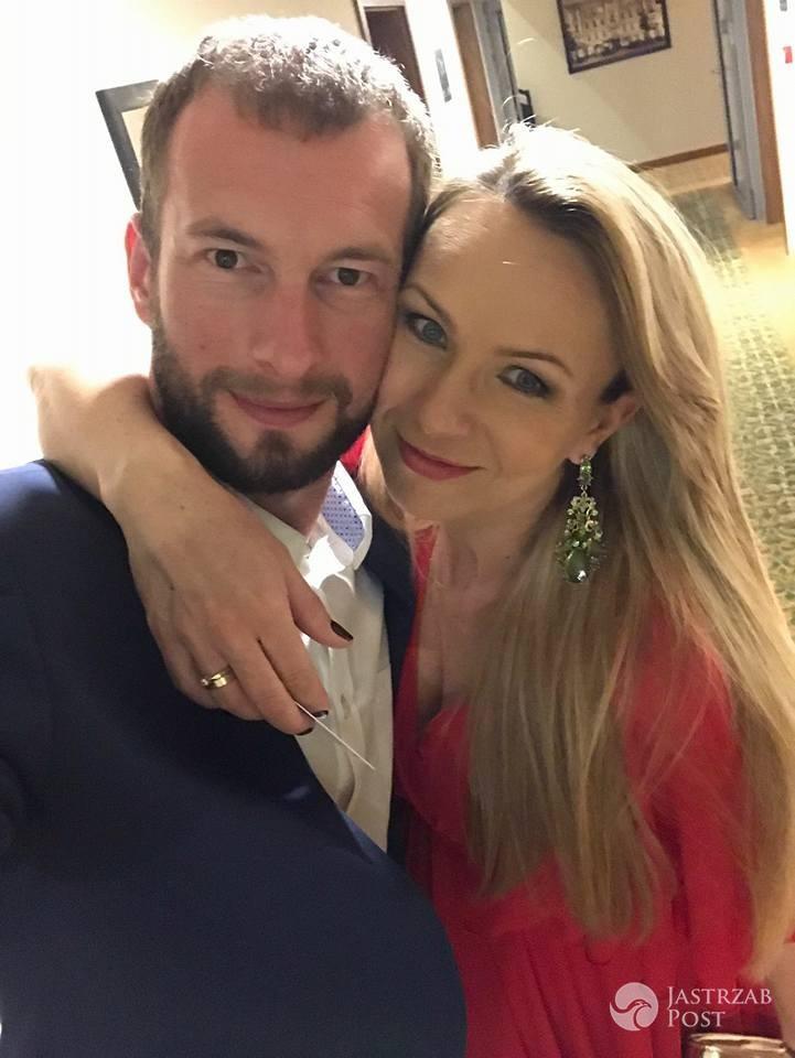 Anna Guzik z mężem Wojciechem Tylką