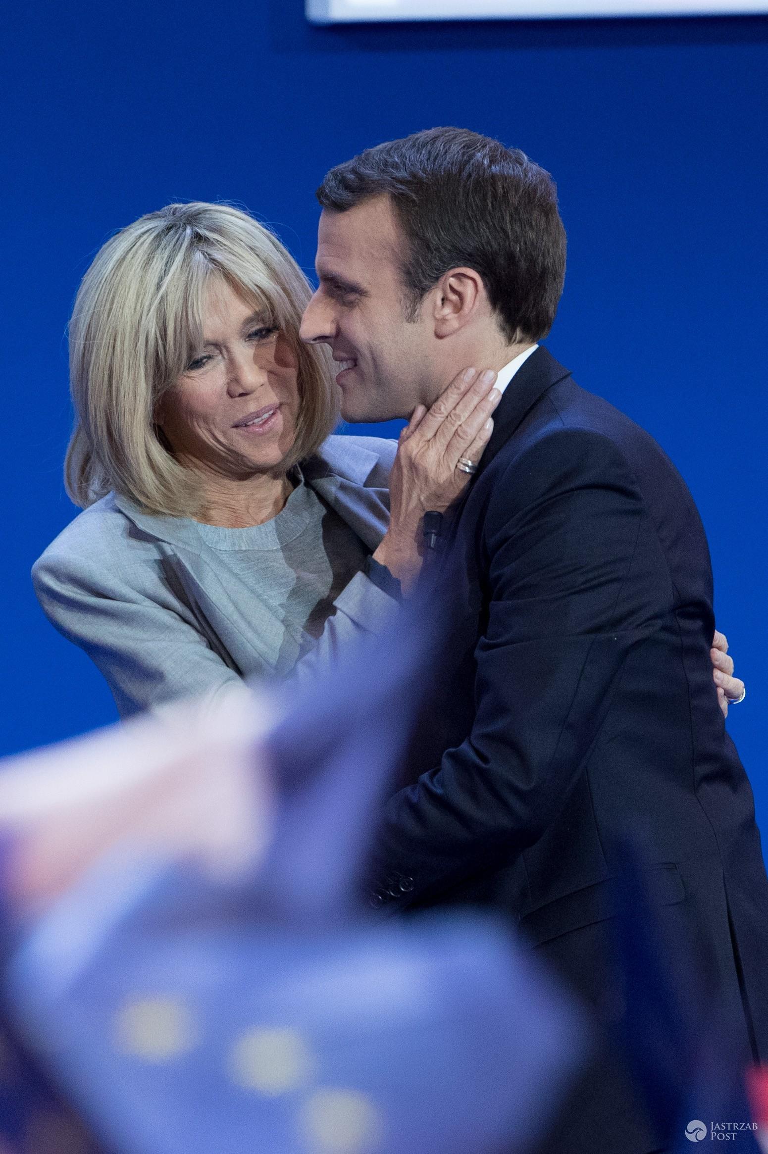 Emmanuel Macron i Brigitte Trogneux - para prezydencka Francji