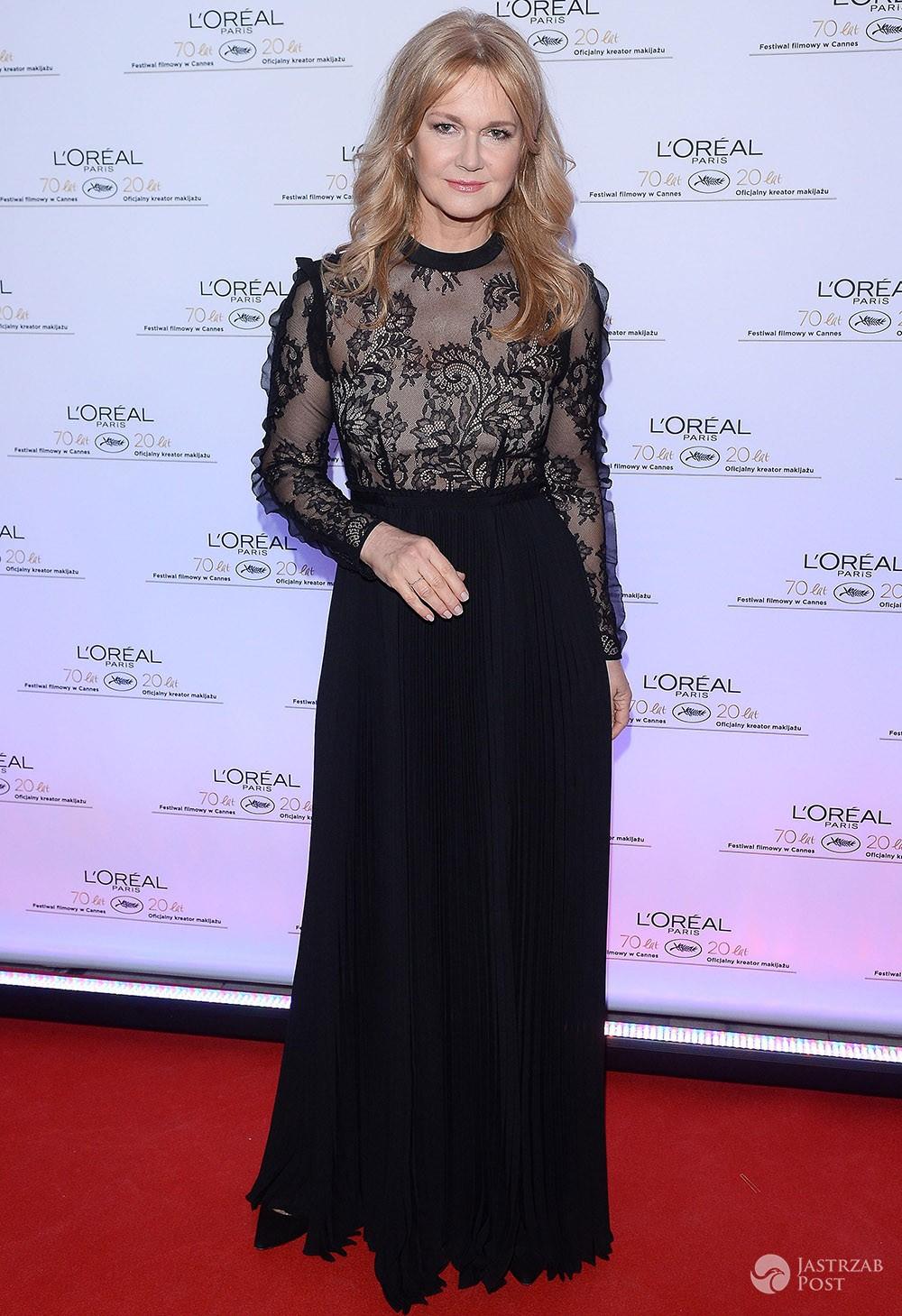 Grażyna Torbicka w czarnej sukni