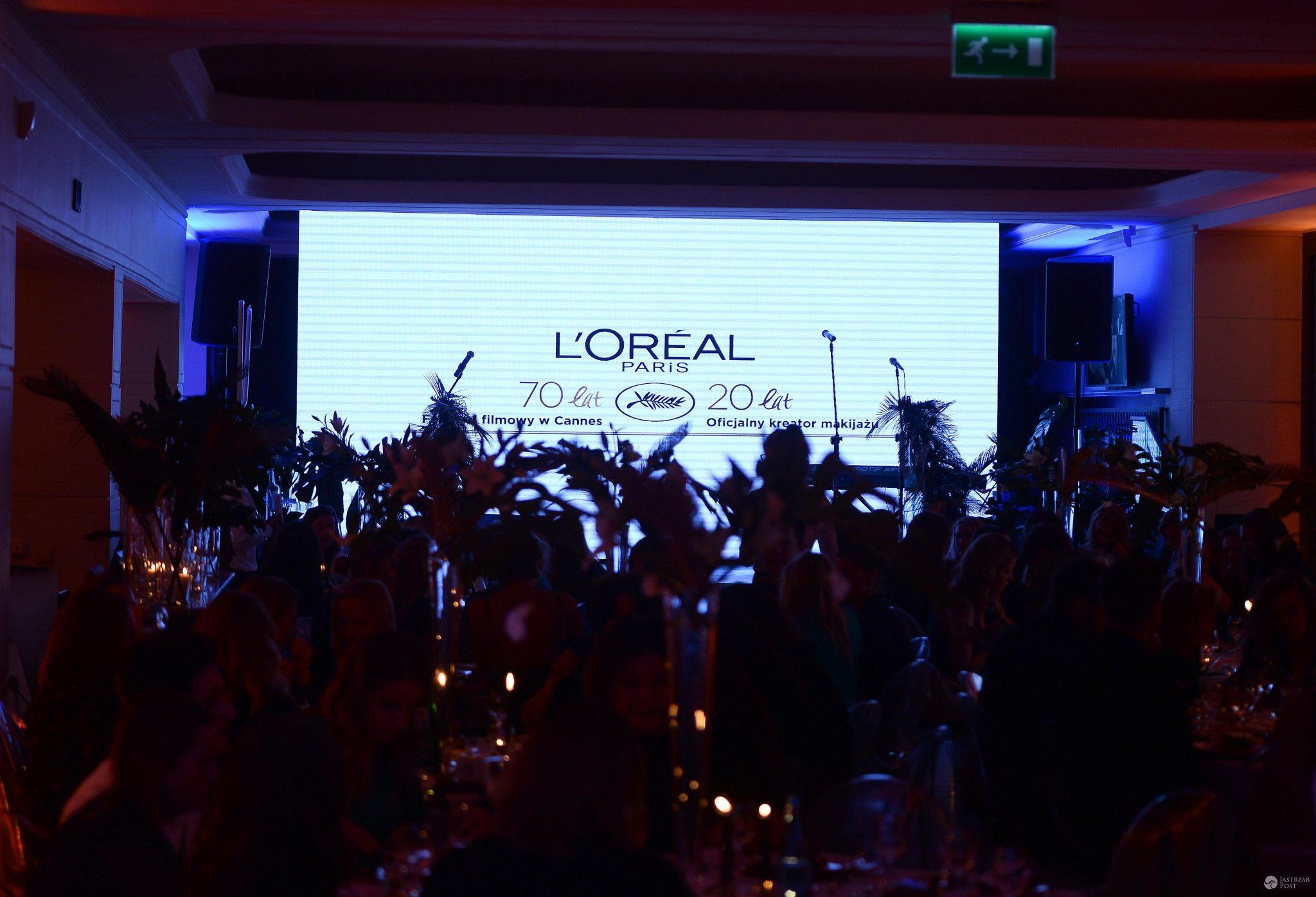 Kolacja z okazji 20-lecia współpracy L'Oreal Paris z Cannes