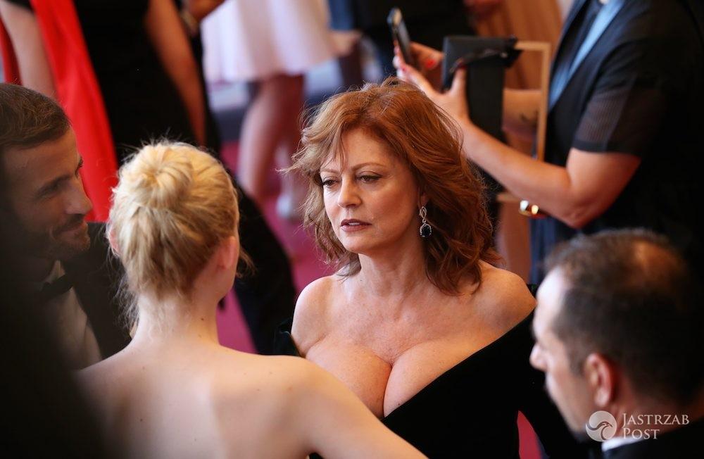 Głęboki dekolt Susan Sarandon w Cannes 2017