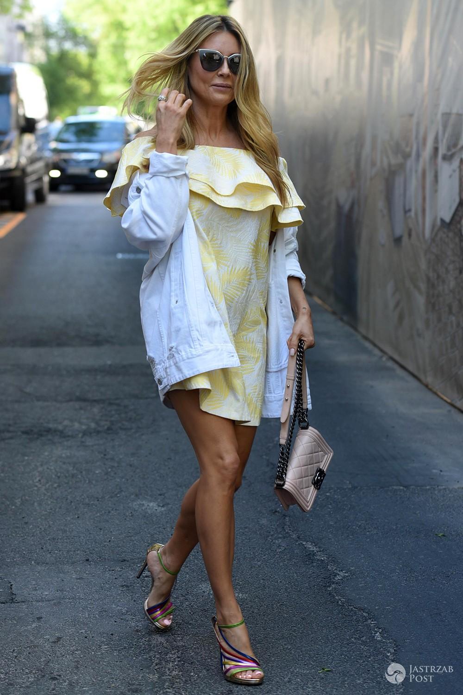 Małgorzata Rozenek w żółtej sukience