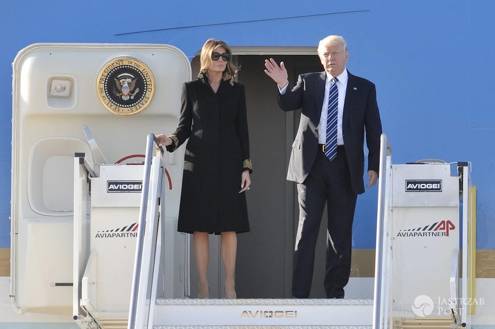 Melania Trump i Donald Trump w Rzymie