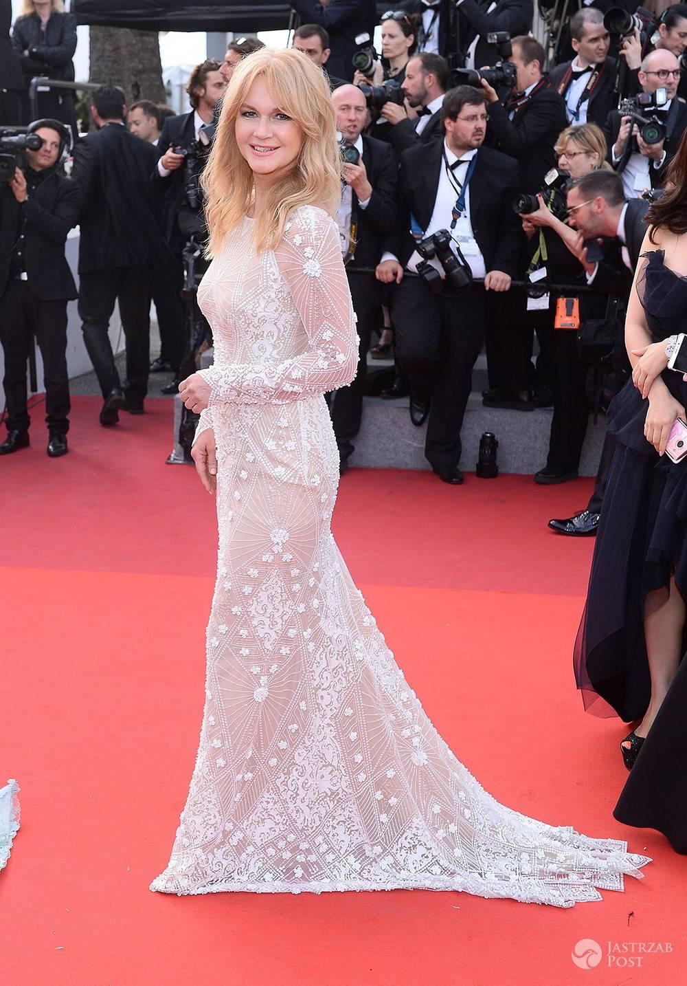 Grażyna Torbicka w kreacji Violi Piekut w Cannes 2017