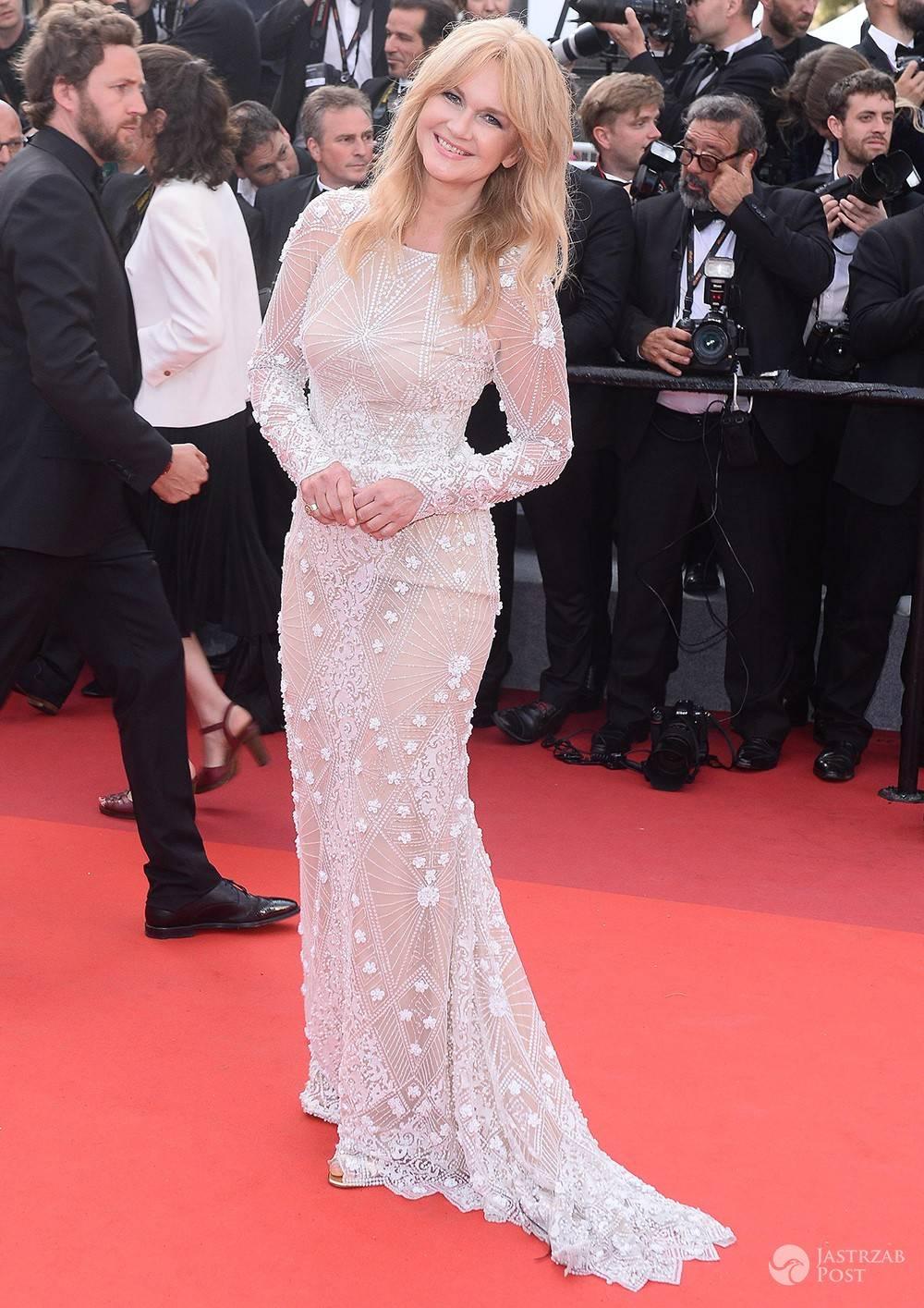 Grażyna Torbicka na czerwonym dywanie w Cannes 2017