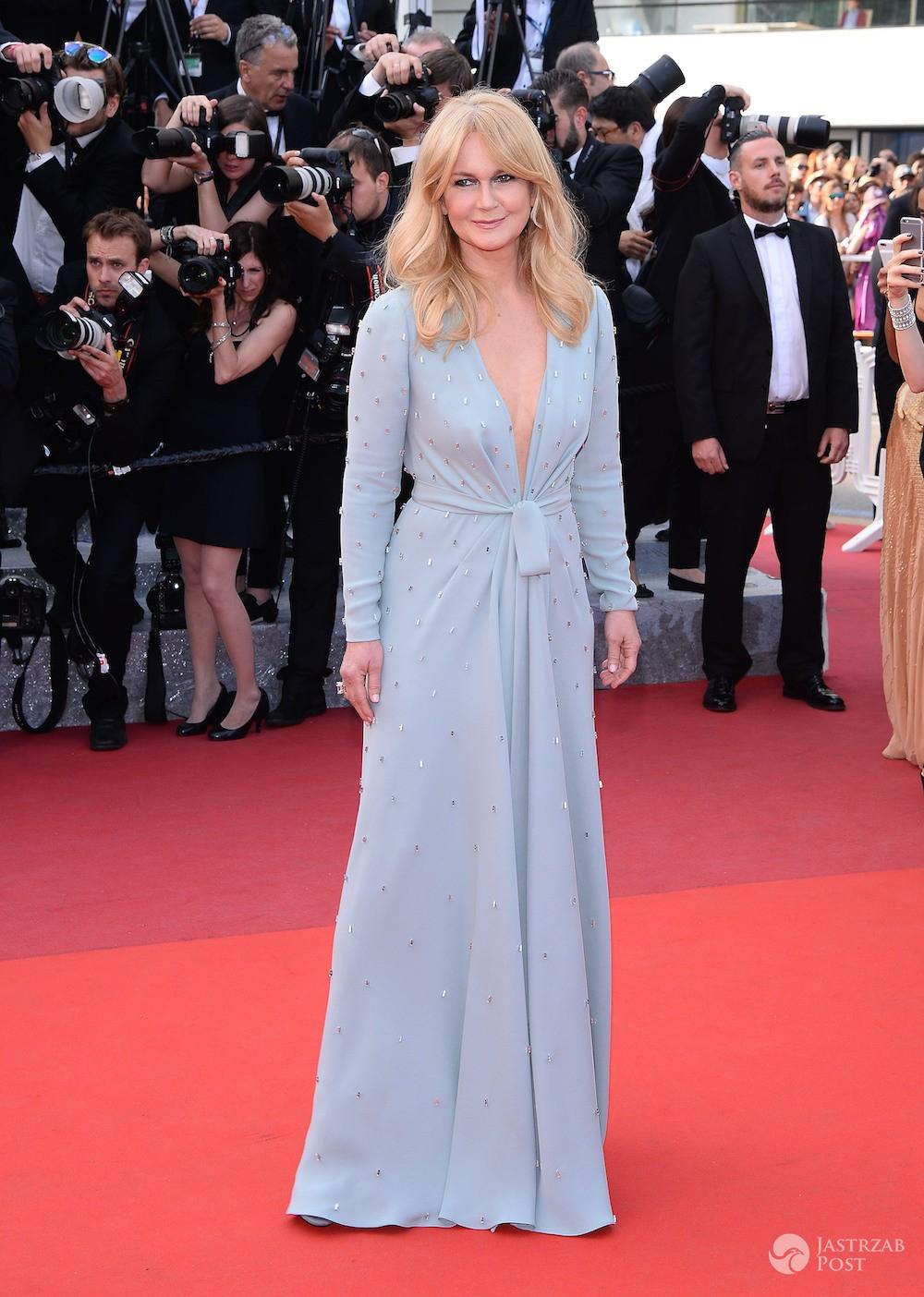 Grażyna Torbicka na czerwonym dywanie w Cannes 2016