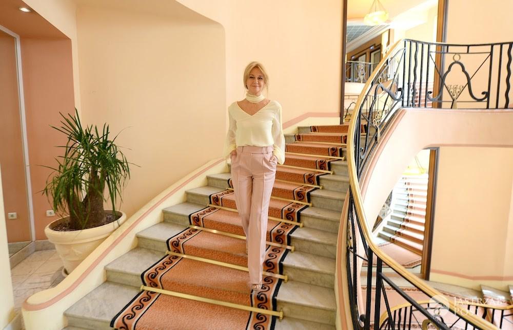 Grażyna Torbicka w hotelu Martinez w Cannes 2017