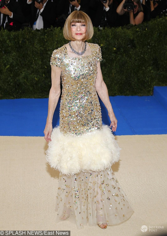 Anna Wintour - MET Gala 2017, kreacja: Chanel