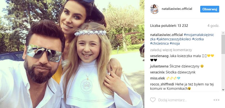 Natalia Siwiec - selfie z chrześnicą