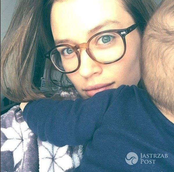 Paulina Wyka z synem Macieja Zakościelnego
