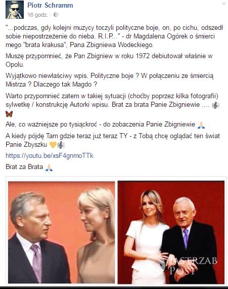 Piotr Schramm Facebook