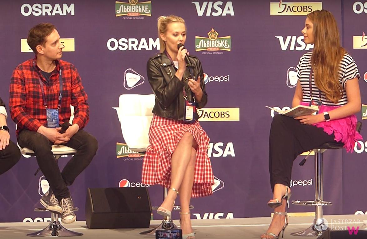 Kasia Moś na Eurowizji 2017 - konferencja prasowa