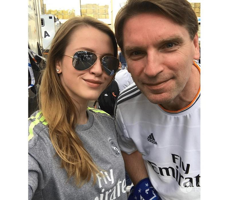 Tomasz Lis i Pola Lis na meczu Realu Madryt