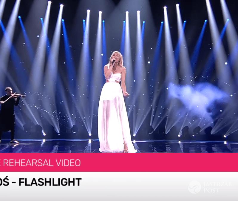 Kasia Moś podczas drugiej próby na Eurowizję 2017