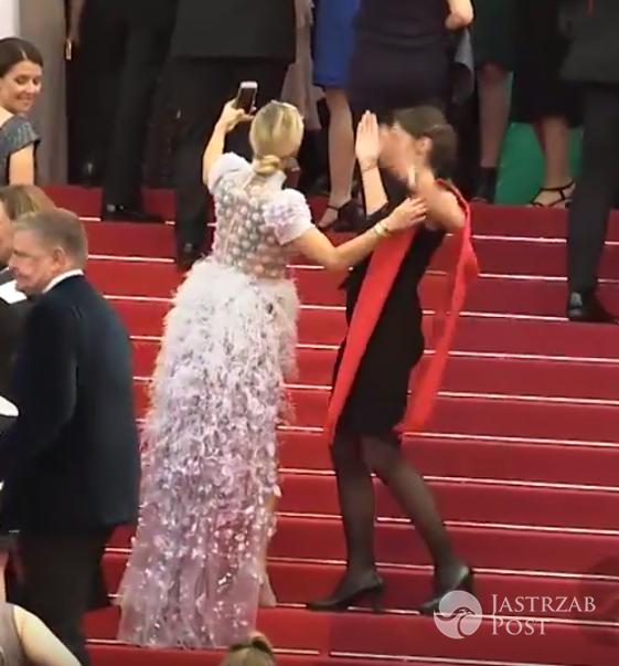 Przepychanka między hostessą a Dodą w Cannes 2017
