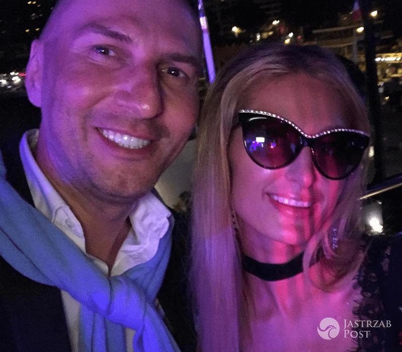 Karzysztof Gojdź i Paris Hilton w Cannes 2017