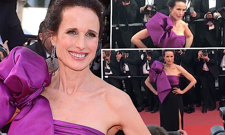 Andie Macdowell w Cannes 2017
