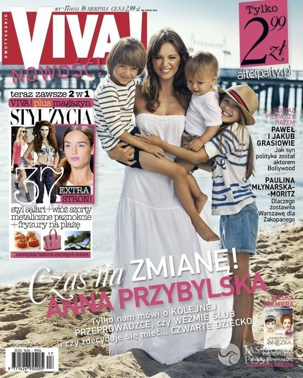 Anna Przybylska z dziećmi na okładce Vivy!