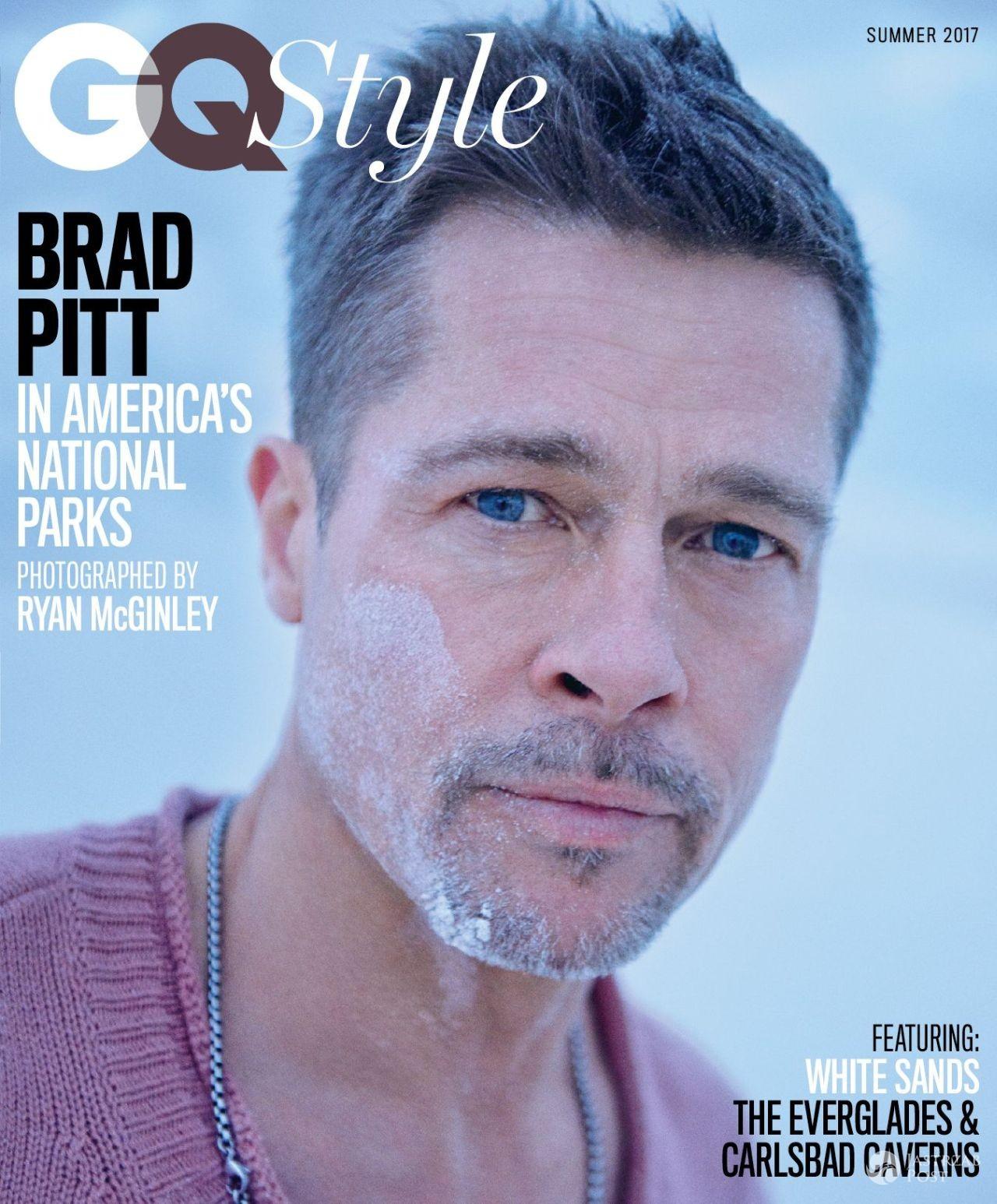 Brad Pitt na okładce GQ Style 2017