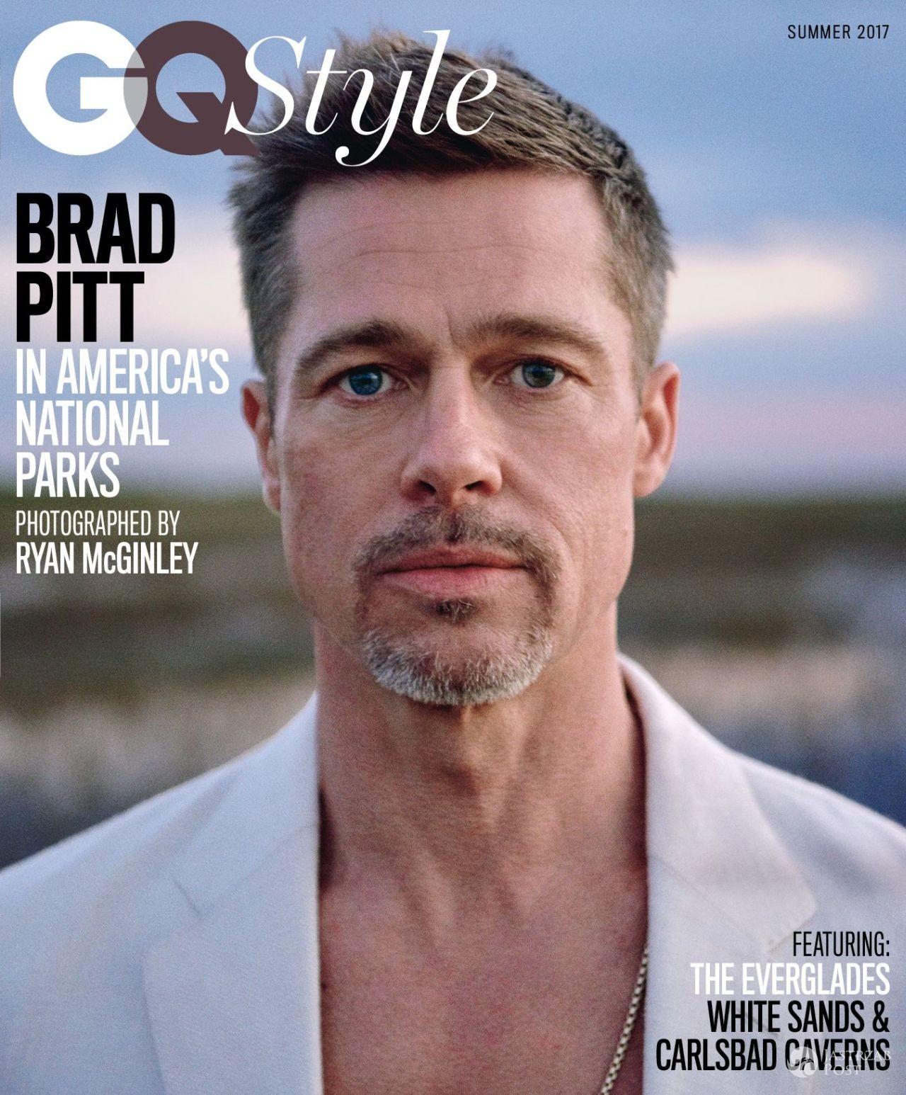 Brad Pitt - sesja w GQ 2017