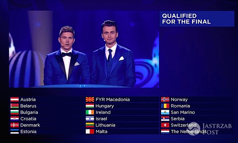 Eurowizja 2017 drugi półfinał wyniki, kto w finale