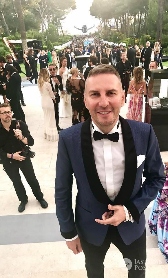 Krzysztof Gojdź na imprezie w Cannes 2017