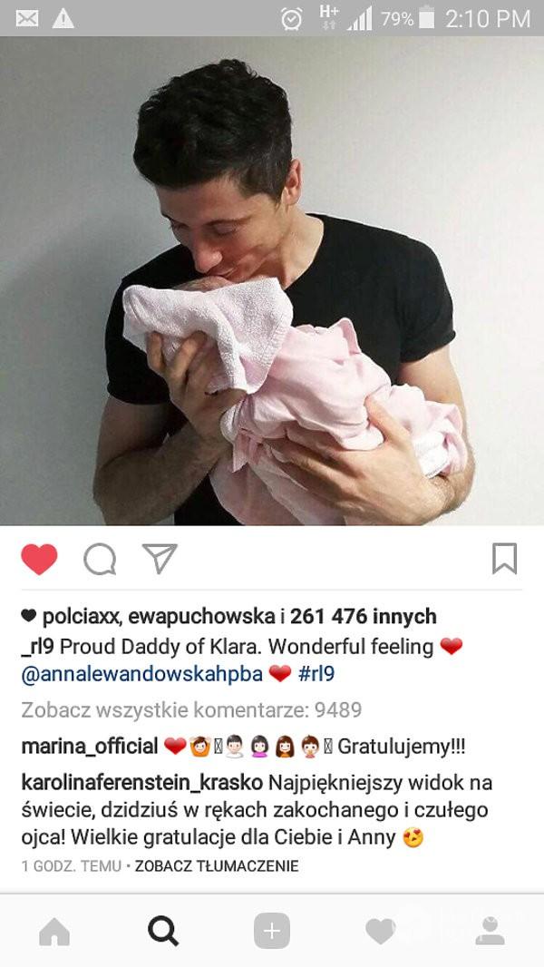 Karolina Ferenstein-Krasko-pogratulowala Lewandowskim